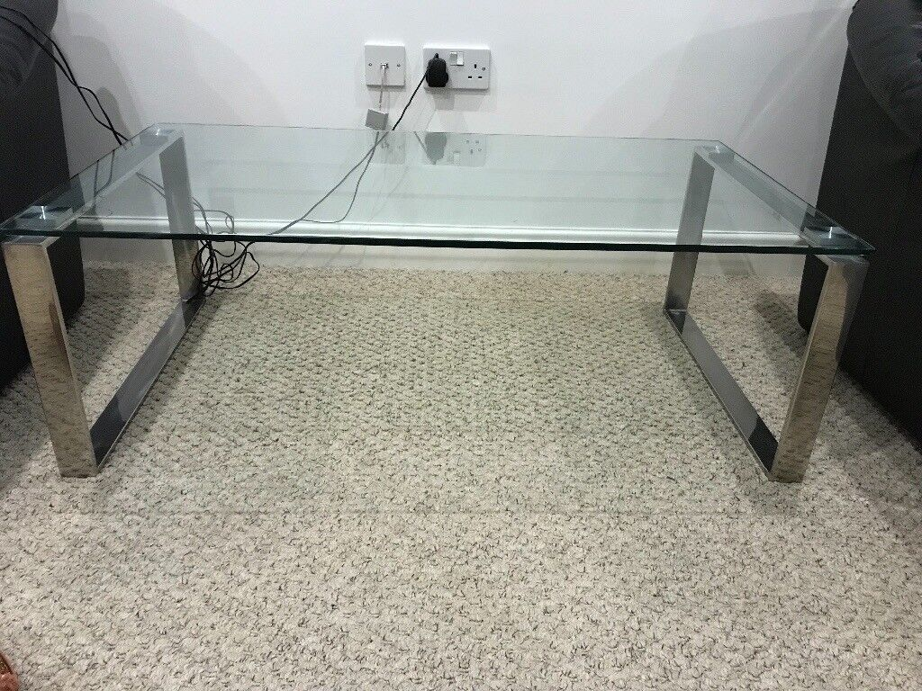 John Lewis Tropez Glass Coffee Table In Taverham Norfolk Gumtree