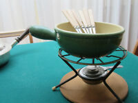 Cheese fondue set with 6 forks