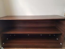 SHOP DISPLAY COUNTER NICE WALNUT 1800MM, SHOP FITTING DISPLAY UNIT