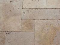 Natural limestone Travertine Paving - New