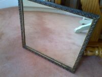 beautiful vintage wall mirror with nice frame and patina