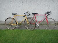 Peugeot Equipe vintage retro road bike and Puch pacemeaker vintage retro road bike £50 each
