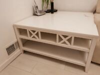 White designer coffee table