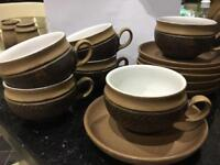 Vintage Denby Cotswold coffee cups and saucers