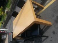 Table and four chairs. Delivery.
