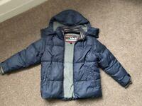 Boys NEXT age 7 winter puffa style coat detachable hood