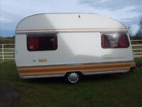 Caravan 4 berth no longer wanted good for age, furnishing OK, solid structure