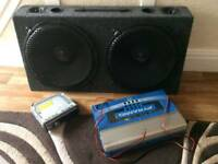 SUBWOOFER + AMP 1000W + HEAD UNIT