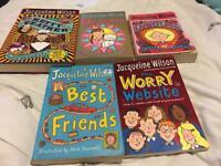 5 used Jacqueline Wilson Books