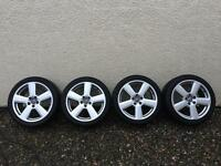 Audi A6 , A4 , A5 wheels with winter tyres 18inch