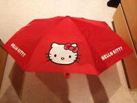 Hello Kitty Umbrella, excellent condition, only used a handful of times, pet and smoke free