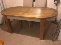 Solid oak dining table very heavy! Not been used.