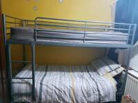 bunk bed with two matress