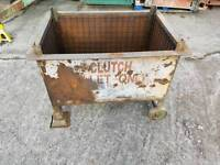 Forklift stillage box metal pallet from fabrication company