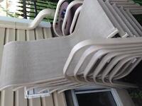 6 chaises de terrasse