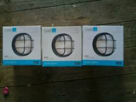 Set of 3 Outdoor lights for sale (can separate)