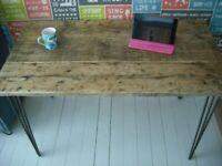 Industrial Desk Table Rustic