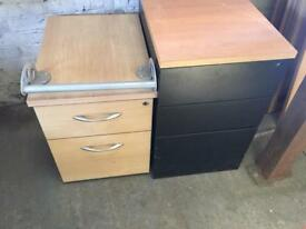 2 x office filing cabinets