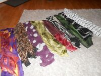 SELECTION OF 10 LADIES SCARFS