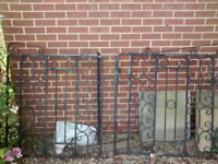 Black iron gates - pair of gates for drive or garden - Lawnswood LS16