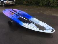 Kayak XT-SEA 285 sit on kayak paddles and backrest. Very good condition