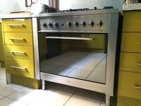 Stainless Steel Range, Indesit Advance KP9 Duel Fuel, 90cm
