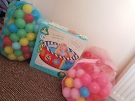 Mothercare sensory ball pit with approx 150-200 balls
