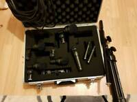Audix fusion series microphones and stand