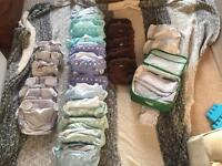 Full set of reusable nappies