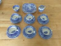 21 Piece Spode Blue Italian Tea Set