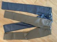 """Bundle of 2 trousers stretch """"jeans"""" size 12 y"""