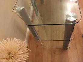 Glass TV coffee table