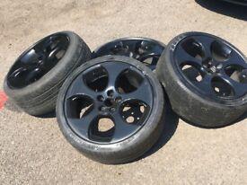 "18"" VW GOLF MK5 MK6 GTI monza wheels - 5x112 - black"