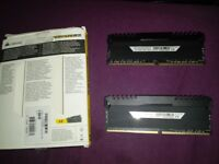 RAM CORSAIR VENGEANCE LED 16GB(2×8GB) 3200MHZ DDR4 C16