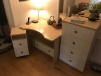 Danish furniture set; desk and 3 sets of drawers. From John Lewis - Made in Denmark