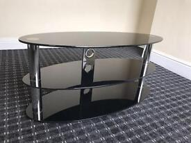 "Black Glass 3 tier TV stand like new can fit up 50"" excellent condition Bargain"