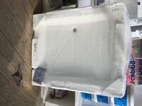 1100 x 900 resin shower tray