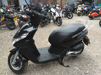Peugeot Kisbee 100 Scooter, Black, Delivery, Finance, Commuter, 197 km only, Warranty