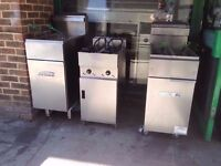 CHIPS TWIN TANK FRYER VALENTINE FASTFOOD RESTAURANT CAFE KITCHEN CATERING COMMERCIAL TAKEAWAY