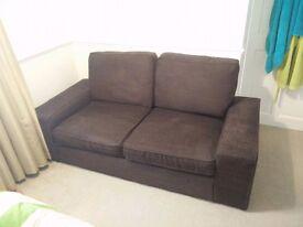 2 Seater Sofa Brown Kivik