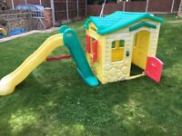 Little Tikes playhouse and free slide