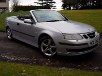 2004 Saab Convertible Cabriolet 1.8T Manual 150BHP, Leather, Serviced, Long MOT, BARGAIN, Excellent!
