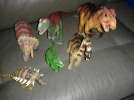 large plastic, much loved dinasaurs