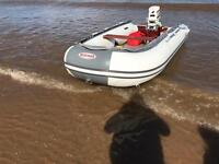 Suzumar 350 12ft rib with Johnson 20hp out board & trailer
