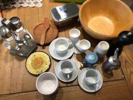 An assortment of tableware all in good condition being sold as one lot.