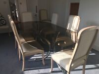 8ft glass dining table in great condition