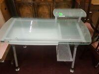 lovely glass computer desk for sale
