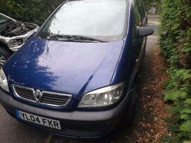 Vauxhall Zafira new 1 year MOT