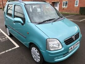 03 VAUXHALL AGILA 1.2 LITRE PETROL 5 DOOR ESTATE NEW MOT 14/8/19 NO ADVISORIES SERVICE HISTORY