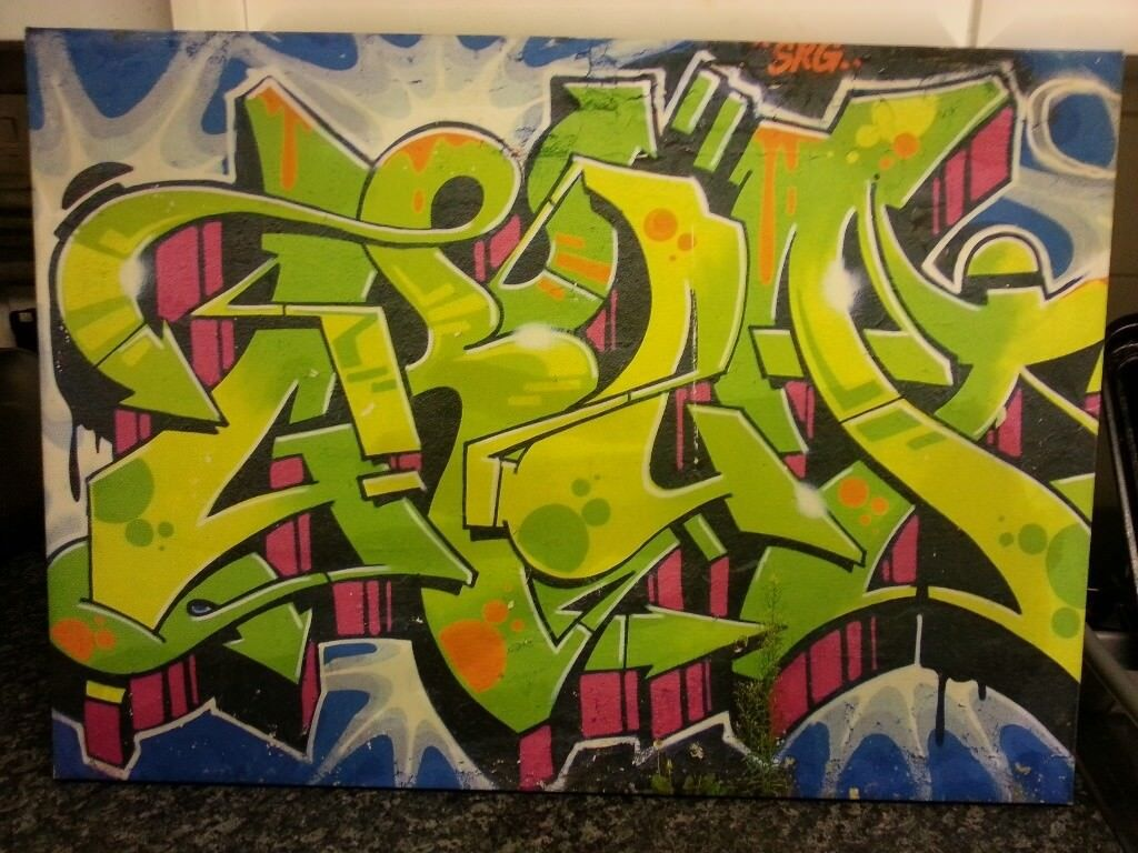 Graffiti Canvas Picture Used   in Burbage, Leicestershire   Gumtree